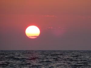 sun rise at sea